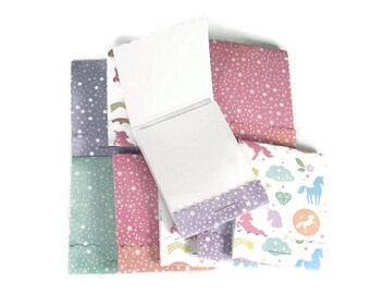 Party Favor Set of 20 Matchbook Notepads Mini Note Pads in Magical