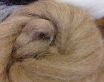 alpaca fibre roving 21 micron natural spinning wool undyed felting wool top 100gm