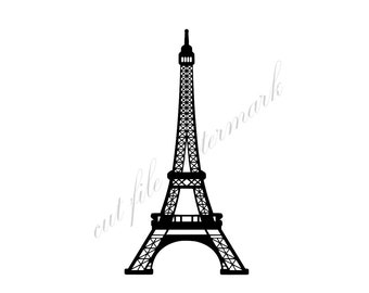 Eiffel Tower Cut Files SVG & Studio 3 File for Silhouette Brother Cricut Cutouts Decals Designs SVGs Cutout Photo Decal Logos Logo France