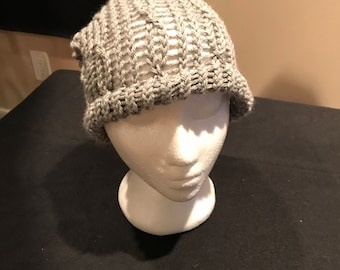Two tone gray slouchy scarf