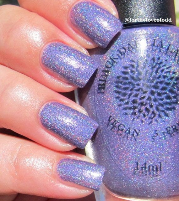 Black Poppy Nail Polish: Royal Purple Holo With Shimmer Nail Polish Water Poppy By