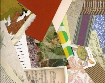 Collage Paper, Scrap Paper Pack, Paper Ephemera, Grab Bag Paper Scraps, 5 Large Ounces for DIY Paper Arts, Scrapbooking, Decoupage PSS 0412