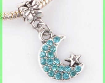 Pearl European bail N142 Moon for bracelet charms