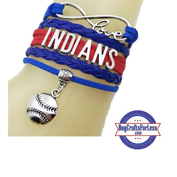 CLEVELAND Leather Bracelet-U Choose CHARM +Discounts & FREE Shipping