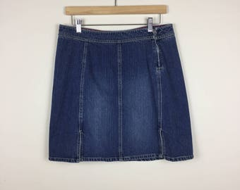 Vintage Tommy Hilfiger Skirt Size 32, 90s Denim Skirt, Jean Skirt 32, Tommy Hilfiger Large Skirt