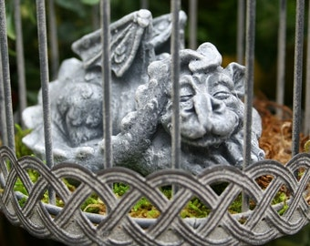 Pet Dragon Statue - Baby Dragon In A Cage - Hand Raised and Ready for a New Home