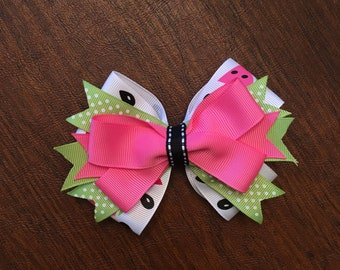 Watermelon, Pink and Green Hair Bow