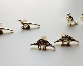 Dinosaur | T-rex | Diplodocus | Stegosaurus | Raptor | Cute | Retro | Earrings