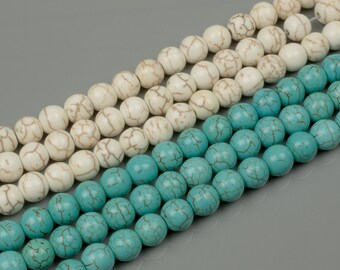 8mm Magnesite Turquoise 15 Colors