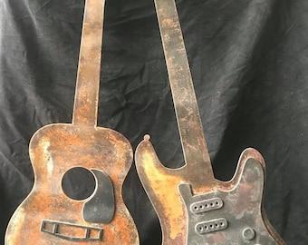 Custom Metal Guitar Wall Art