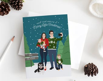 Funny Christmas Card -  Family Photo Christmas Cards - Fun Holiday Card with Family Portrait - DESIGN FEE Only