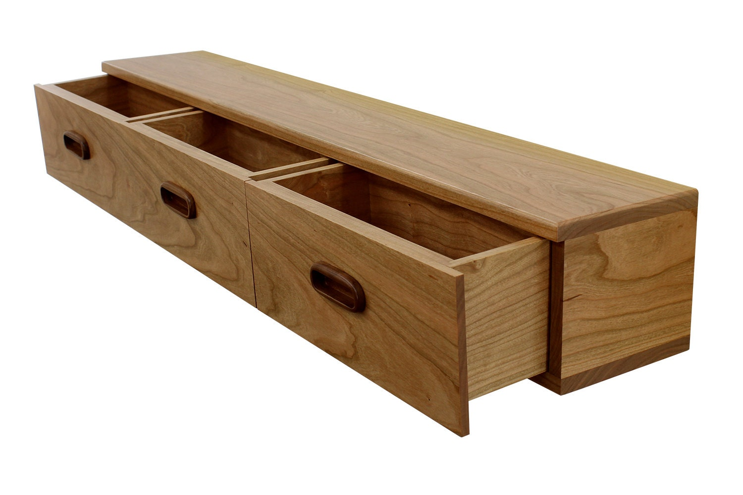drawer with floating il dovetailed listing walnut shelf