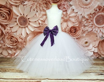 White Sequin Dress-White Flower Girl Tutu Dress-White Bride Tutu-White Tutu-Flower Girl Dress-White Girl Tutu-White Wedding Tutu-White Dress