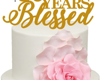 30 Years Blessed 30th Wedding Anniversary Acrylic Cake Topper