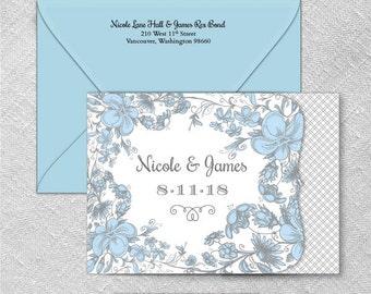 Newburyport All Inclusive Wedding Invitation Sample