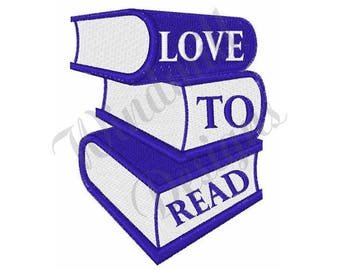 Read Books - Machine Embroidery Design