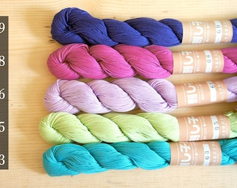 Sashiko Thread Pastel Color   big 145 meter skeins