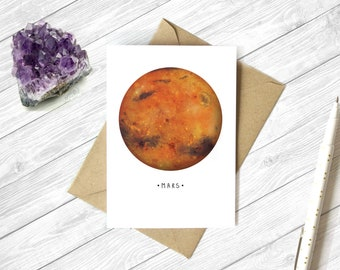 Solar System - Planet - A6 Card - Birthday - Greeting - Gift - Cards - Space - Planets