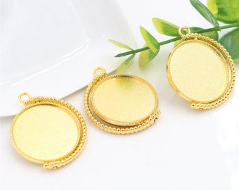 Gold 25 mm 1 stand rotation and pendant double-sided cabochon within 15 days