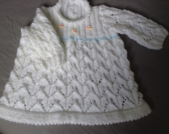 White dress in three months old baby