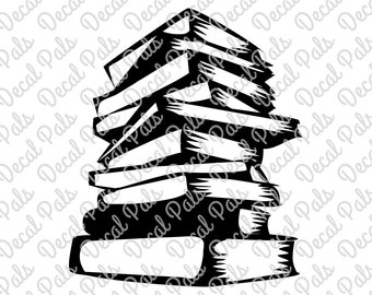Stack of Books | #DP99-0115 | Teacher cut design | FCM, SVG file formats | ***Not a physical item***