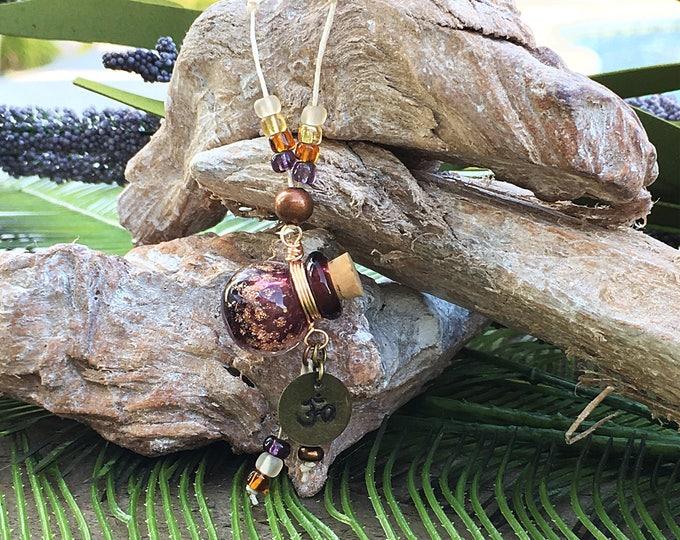 Murano Glass Pendant Essential Oil diffuser necklace