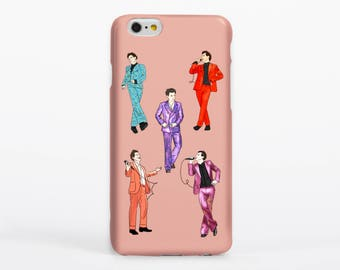 Harry's Suits Phone Case Apple Samsung iPhone One Direction Harry Styles Portrait Drawing Illustration Fashion Custom