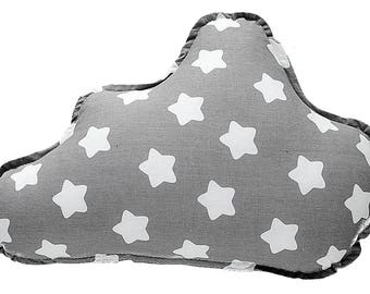 Pillow Cloud - Grey & White Stars