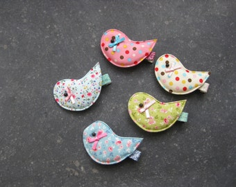 Hairclips with little flowers or dots for girls and Moms