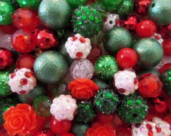 BULK! 100CT. 10mm & Larger Bead Collection, 10mm beads and larger, K32