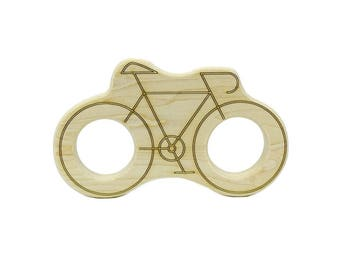 Wood Teether Bicycle - Wooden Teether - Wooden Toys - Baby Shower Gift
