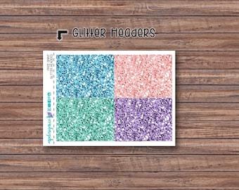 Free Spirit Glitter Header Stickers | ECLP | Happy Planner | Recollections Planner