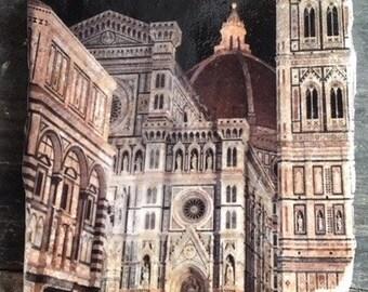 Duomo Florence At Night Tile