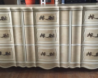 SOLD! 9 Drawer French Provincial Dresser