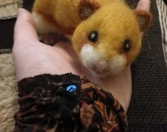 Custom Made to Order Needle Felted Hamster to Your Specifications