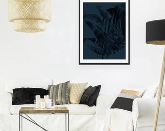 Palm Leaf Print. Palm Print. Tropical Print. Leaf Print. Botanical Print. Wall Art. Wall Decor. Green Lili