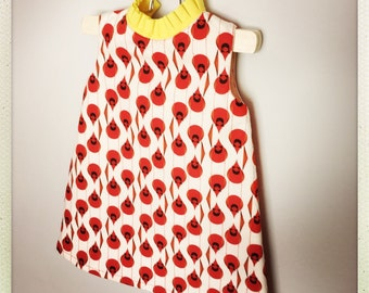 girls red dress valentine picture day dress a line dress toddler dress shift dress towno 1960s dress dress red bird dress