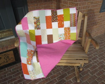 Sale - Homemade - Wrens And Friends - Lap / Baby Quilt