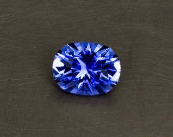 Sapphire Loose Lab Created Conflict Free Meduim Blue Modern Designer Modified Oval Brilliant Faceted Gemstone