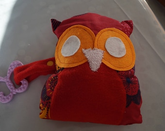 OWL fabric with a teething ring