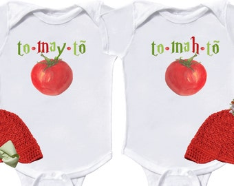 Funny Twin Bodysuits Boy Twins Girl Twins Boy GIrl Twins Newborn Romper to Kids Tees Baby One Pieces