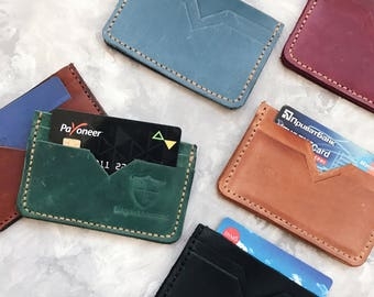 Minimalist leather credit card holder Credit card case Card holder Slim leather wallet Credit card sleeve Mini Wallet Leather Card Case