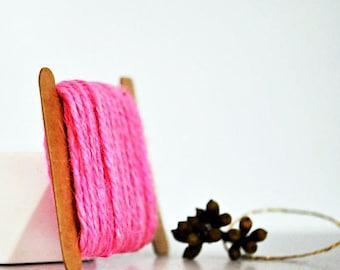 Pink Twine {10m} Pale Pink Twine   Jute Twine   Chunky Twine   Bright Pink Jute Twine   Rustic Pink Twine   Baby Girl Celebrations