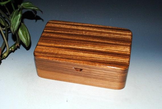 Zebrawood on Walnut Wooden Box - Stash Box - Guy Favorite -Jewelry Box - Wood Box, Keepsake Box, Gift Box, Handmade Box, Treasure Box, Boxes