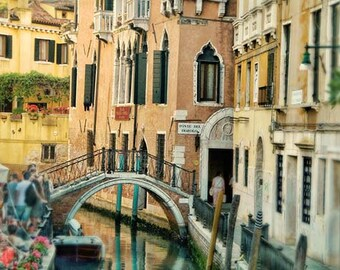 Venice Photography, Venice Italy Art Print, Venice Canal Art Print, Travel Photography, Warm Colors, Home Decor