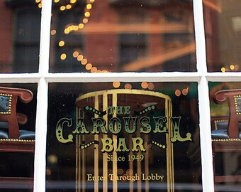 "New Orleans ""Carousel Bar"" Photography, French Quarter Sign,  Photo Print. Mardi Gras, Wall Art, Home Decor"