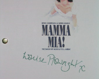 Mamma Mia Broadway Musical Signed Script Screenplay Louise Plowright Björn Ulvaeus poplular musical script Play Stage