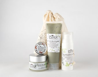 Luxurious Organic Skincare Lavender and Shea Butter Face Care Set