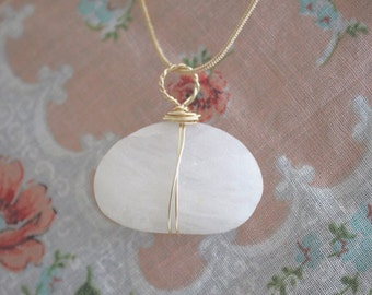 Moses Collection Bohemian Beach Stone Minimal Necklace Hand Crafted By Rachel Leigh