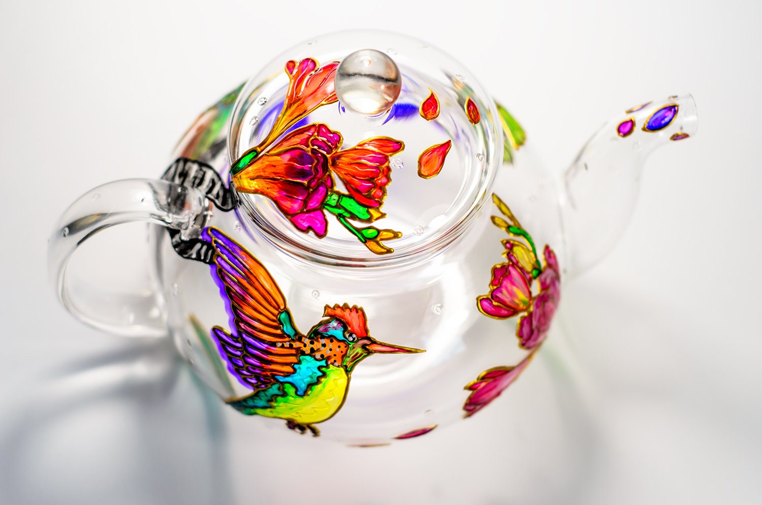 Hummingbird Floral Teapot Mom Gifts From Daughter